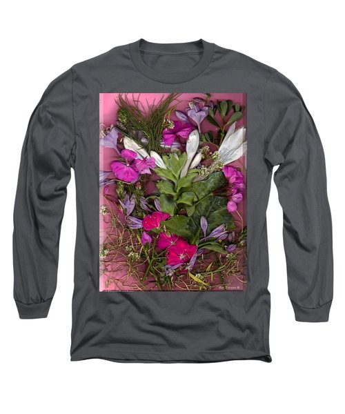 Long Sleeve T-Shirt featuring the digital art A Symphony Of Flowers by Ray Tapajna