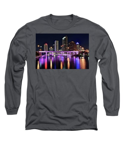 A Tampa Night Long Sleeve T-Shirt by Frozen in Time Fine Art Photography