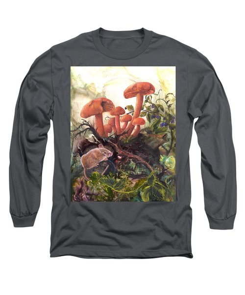 Long Sleeve T-Shirt featuring the painting A Thorny Situation by Sherry Shipley