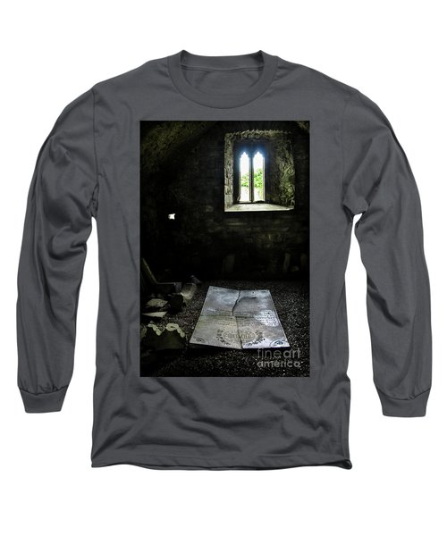 Long Sleeve T-Shirt featuring the photograph A Tombstone In Sligo Abbey by RicardMN Photography