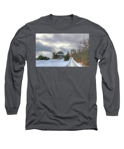 Long Sleeve T-Shirt featuring the photograph A Touch Of Snow by Sharon Batdorf