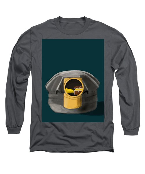 A Treasure Inside The Miners Helmet Long Sleeve T-Shirt by Keshava Shukla