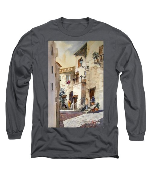 A Tuscan Street Scene Long Sleeve T-Shirt
