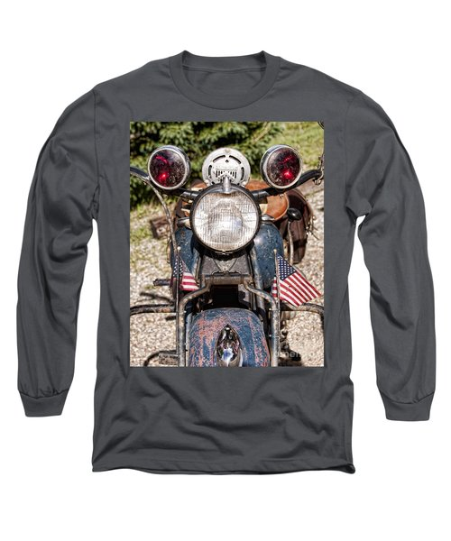 A Very Old Indian Harley-davidson Long Sleeve T-Shirt