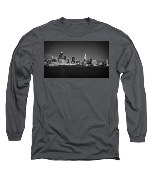 A View From Across The Hudson Long Sleeve T-Shirt by Eduard Moldoveanu