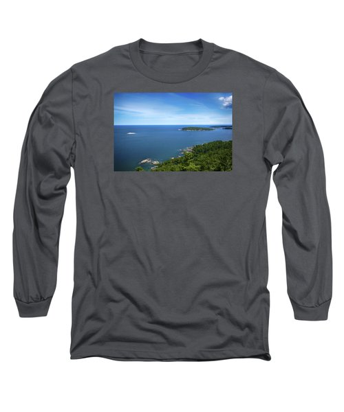 A View From Sugarloaf Mountain Long Sleeve T-Shirt by Dan Hefle