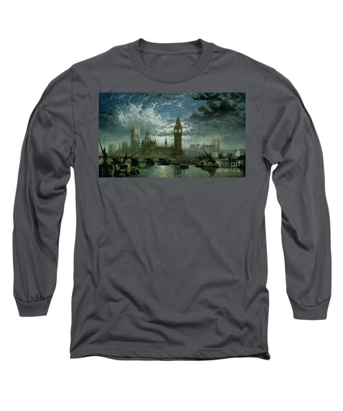 A View Of Westminster Abbey And The Houses Of Parliament Long Sleeve T-Shirt by John MacVicar Anderson