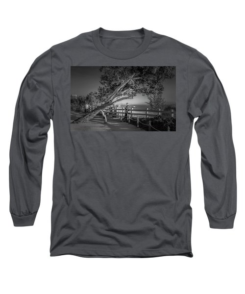 A Walk In The Park B And W Long Sleeve T-Shirt