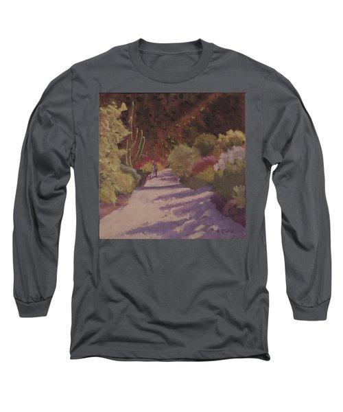 A Walk  On A  Sonoran Desert Road Long Sleeve T-Shirt