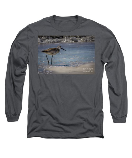 A Walk On The Beach Long Sleeve T-Shirt by Marvin Spates