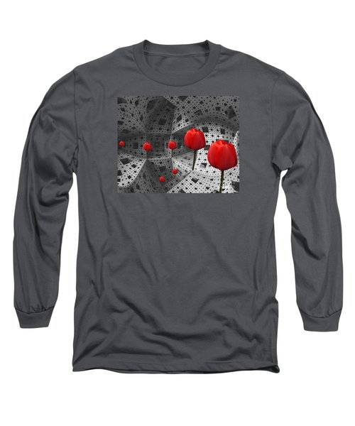 a way in Menger's sponge Long Sleeve T-Shirt