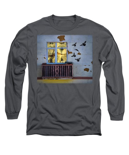 Long Sleeve T-Shirt featuring the photograph A Window by Vladimir Kholostykh