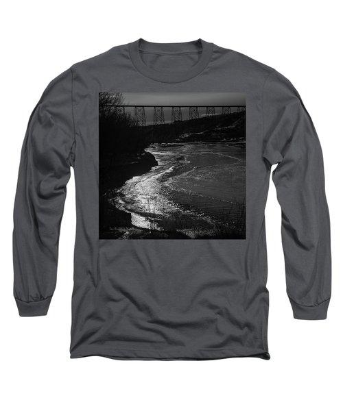 A Winter River Long Sleeve T-Shirt