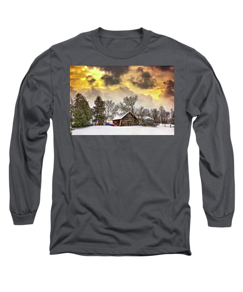 A Winter Sky Long Sleeve T-Shirt by Steve Harrington
