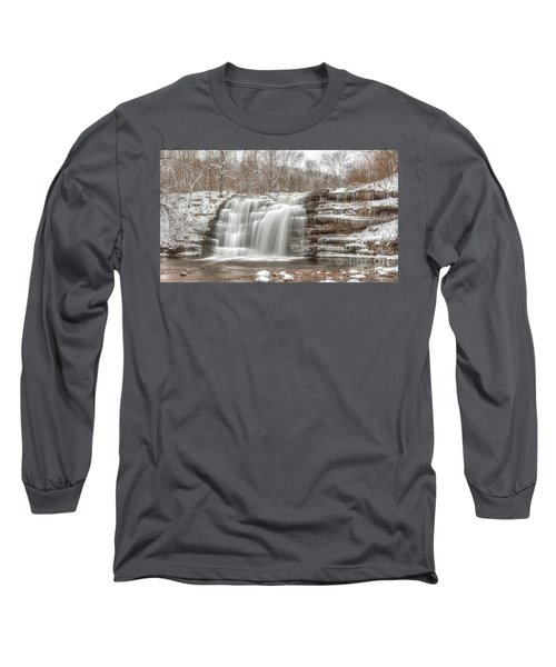 A Winter Waterfall - Color Long Sleeve T-Shirt