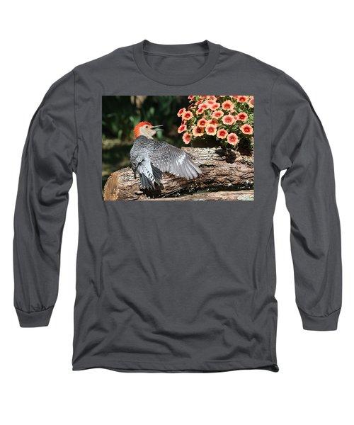A Woodpecker Conversation Long Sleeve T-Shirt