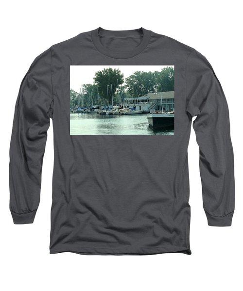 A Yacht Club Long Sleeve T-Shirt by Ian  MacDonald