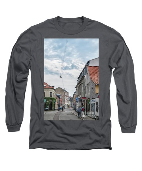 Long Sleeve T-Shirt featuring the photograph Aarhus Urban Scene by Antony McAulay