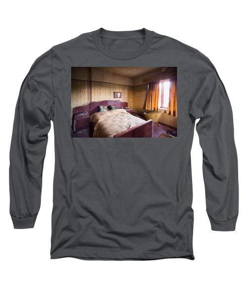 Long Sleeve T-Shirt featuring the photograph Abandoned Bedroom - Urban Exploration by Dirk Ercken