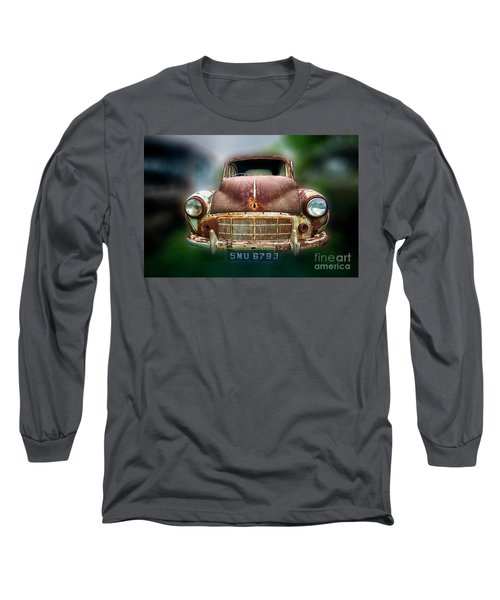 Long Sleeve T-Shirt featuring the photograph Abandoned Car by Charuhas Images