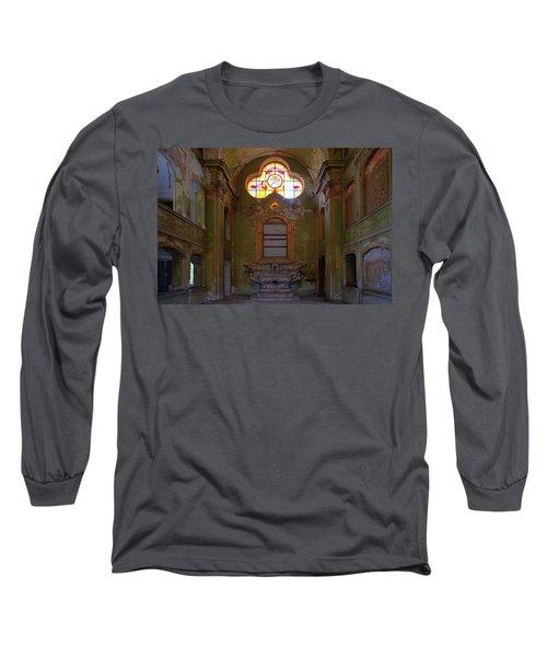 Abandoned Chapel Of An Important Liguria Family I - Cappella Abbandonata Di Famiglia Ligure 1 Long Sleeve T-Shirt