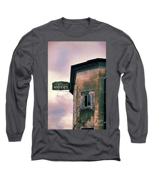 Long Sleeve T-Shirt featuring the photograph Abandoned Hotel by Jill Battaglia
