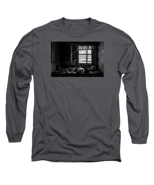 Abandoned Kitchen Long Sleeve T-Shirt by Dan Traun