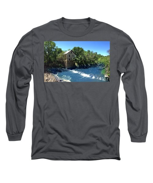 Long Sleeve T-Shirt featuring the photograph Abandoned Mill At Cedar Point by Rod Seel
