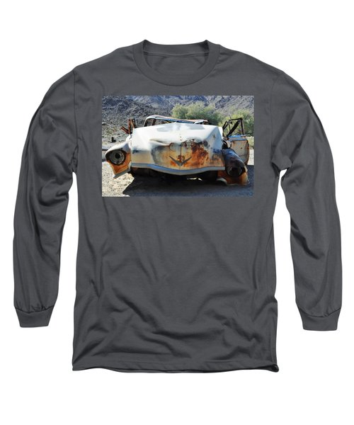 Long Sleeve T-Shirt featuring the photograph Abandoned Mojave Auto by Kyle Hanson