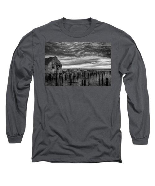 Abandoned Pier Long Sleeve T-Shirt by David Cote