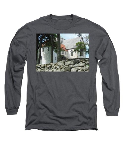 Abbey Exterior #2 Long Sleeve T-Shirt by Susan Lafleur