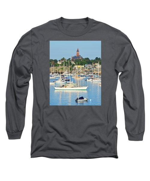 Abbot Hall Over Marblehead Harbor From Chandler Hovey Park Long Sleeve T-Shirt