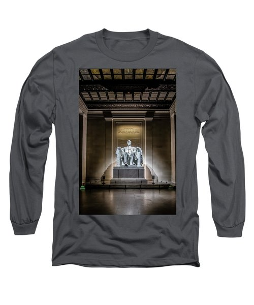 Abe Lincoln Under His Night Lights  Long Sleeve T-Shirt