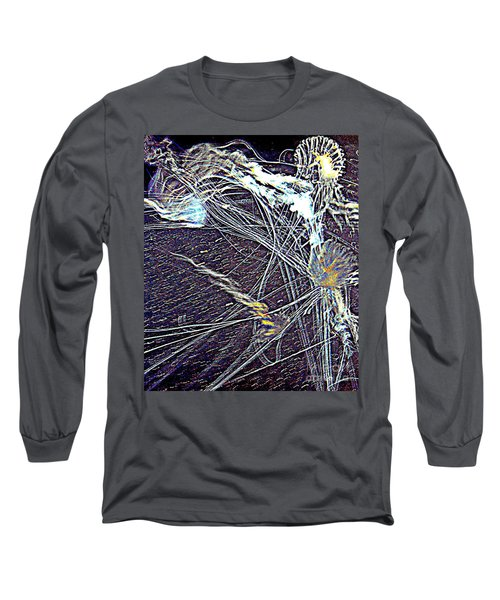 Long Sleeve T-Shirt featuring the photograph Aberration Of Jelly Fish In Rhapsody Series 1 by Antonia Citrino