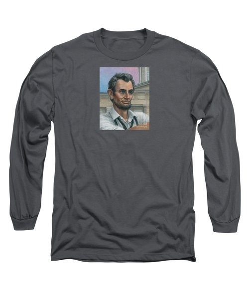 Long Sleeve T-Shirt featuring the painting Abe's 1st Selfie - Detail by Jane Bucci