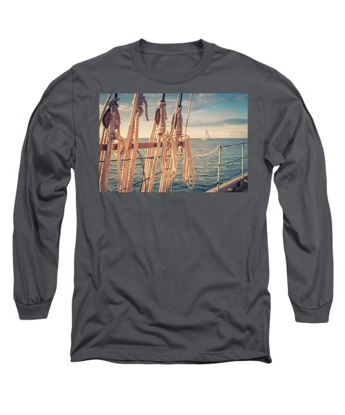 Aboard The Edith M Becker Long Sleeve T-Shirt