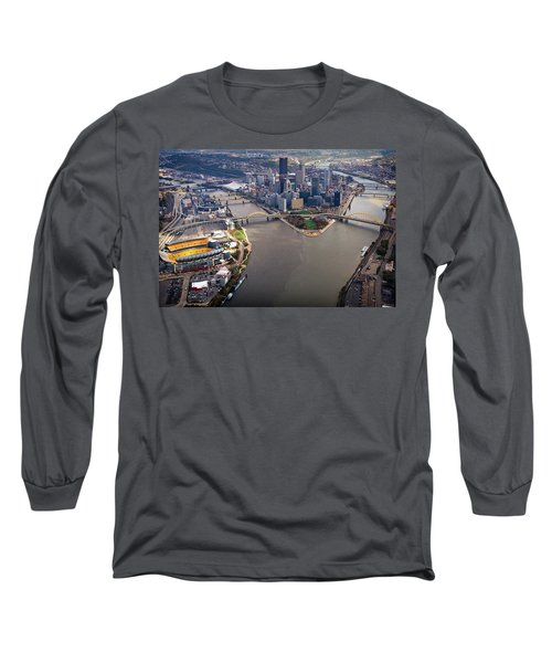 Above Pittsburgh In  Color  Long Sleeve T-Shirt