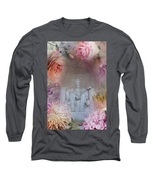 Abraham Lincoln Memorial At Spring Long Sleeve T-Shirt