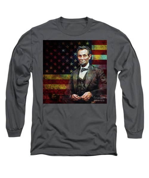 Abraham Lincoln The President  Long Sleeve T-Shirt by Gull G
