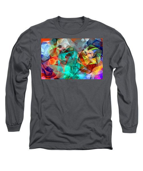 Long Sleeve T-Shirt featuring the digital art Abstract 3540 by Rafael Salazar