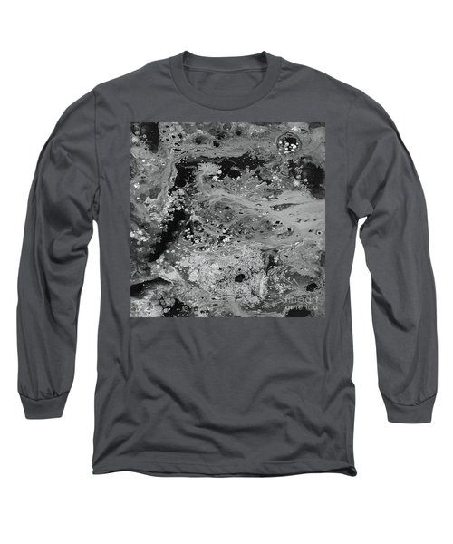 Abstract Acrylic Painting The Night Long Sleeve T-Shirt by Saribelle Rodriguez