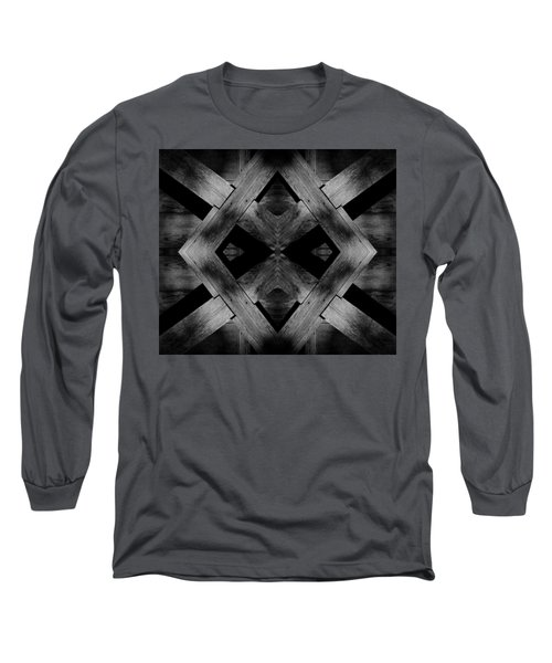 Long Sleeve T-Shirt featuring the photograph Abstract Barn Wood by Chris Berry