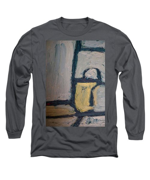 Abstract Blue Shapes Long Sleeve T-Shirt by Shea Holliman