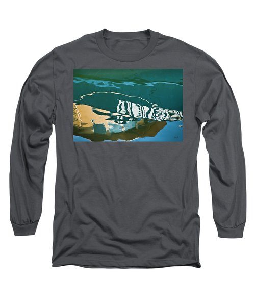 Abstract Boat Reflection Long Sleeve T-Shirt