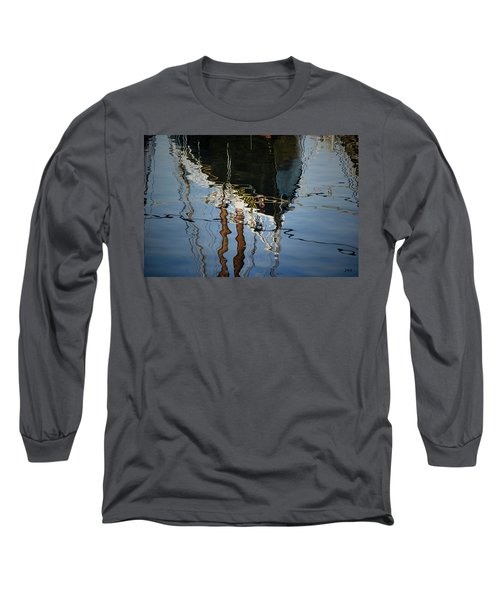 Abstract Boat Reflection IIi Long Sleeve T-Shirt