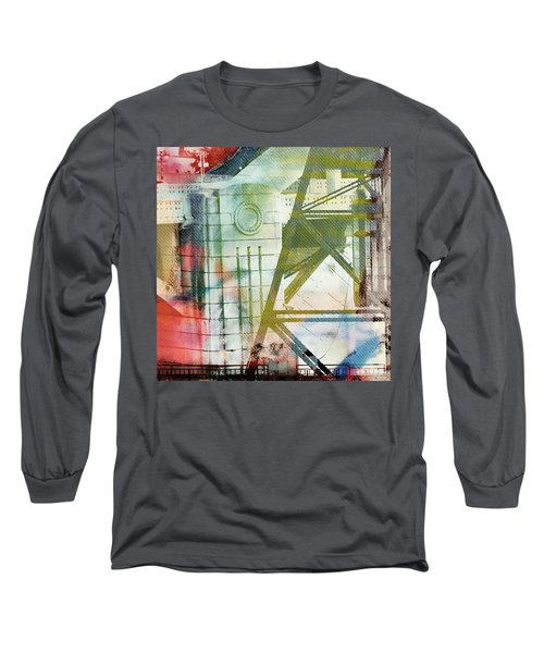 Abstract Bridge With Color Long Sleeve T-Shirt by Susan Stone