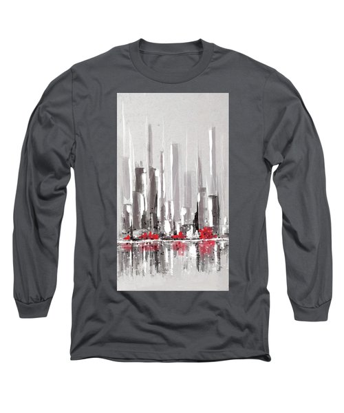 Abstract Cityscape Painting - 1 Long Sleeve T-Shirt