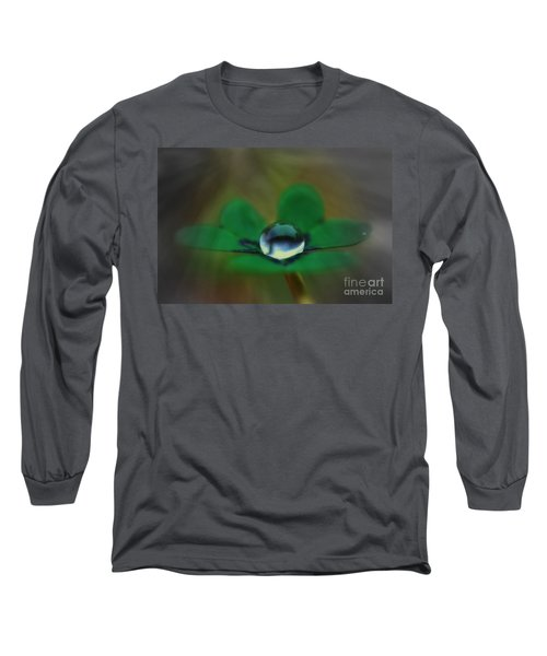 Abstract Clover Long Sleeve T-Shirt by Kym Clarke