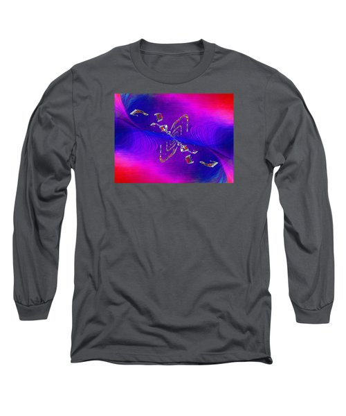 Long Sleeve T-Shirt featuring the digital art Abstract Cubed 350 by Tim Allen