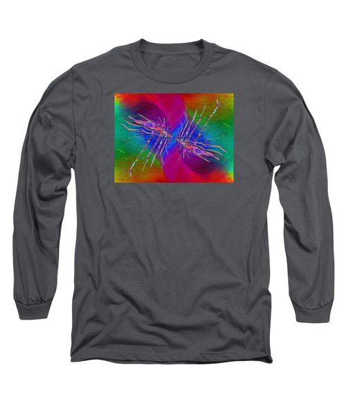 Long Sleeve T-Shirt featuring the digital art Abstract Cubed 353 by Tim Allen